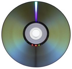 DVD-R writing/reading side
