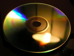Interference colors. Iridescent reflections on a compact disc.