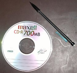 CD-R (Pencil included for scale)
