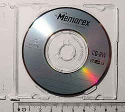 Small CD (with ruler for scale)
