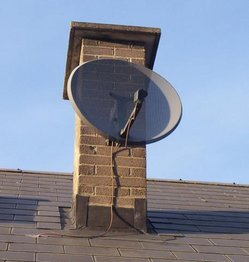"Sky Digital ""mini-dish"""