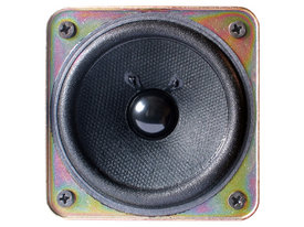 Closeup of a loudspeaker driver