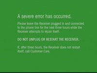 The Green Screen of Death error message